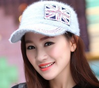In 2014, the new union jack rabbit hair han edition hat Ladies fashion leisure baseball cap