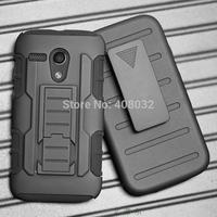 Heavy Duty Armor phone case for Motorola XT1032 Stand Case Cover For Moto XT1031 phone cover case for Motorola XT1033 G stent