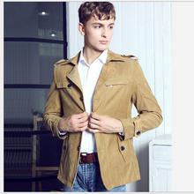 2014 Winter New England style mercerizing cashmere windbreaker men jacket men overcoat male fashion trench coat clothing WE1006 (China (Mainland))