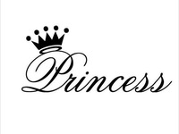 Free Shipping Original Princess Vinyl Sticker Decal quote Decor Saying Wall Sticker On Wall Decal Sticker Vinyl Wall Room Decal