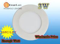 (40pc/lot)Wholesale PriceLED  Light SMD LED Lamp AC85-265V CE&RoHS LED Bulb indoor lighting Ceiling LED Lights For Home lamps 3w