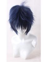Top Quality Okumura Rin Blue Short Shaggy Layered Cosplay Anime Wig