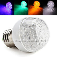 E27 1W LED RGB Red Green Blue Yellow White Light Color LED Ball Bulb Energy Saving Lamp 220-240V AC