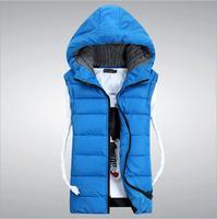 HS-01 Men vest Autumn winter Fashion Casual Slim Korean style Down vest Men's vests Waistcoat men Sleeveless jacket