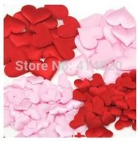 1000pcs /Lot  Party Supplies Wedding Table Decoration Pure Color Heart,DIY Party Decoration,Fabric Heart