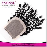 Virgin Brazilian Deep Wave Silk Base Closure,100% Human Hair Closure 4x4,10-18 Inches Aliexpress Yvonne Hair Products