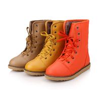 2014 female shoes flat heel medium-leg platform boots martin  casual snow boots motorcycle boots