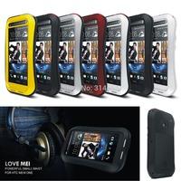 Outdoor Partner Love Mei Waterproof Dustproof Shockproof Aluminum Metal Powerful Phone Protection Case For Htc  New One M7