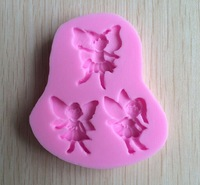 Three Angel shape  Chocolate Candy Jllo 3D silicone Mould Cartoon Figre/cake tools Soap Mold Sugar craft Cake Decoration C318