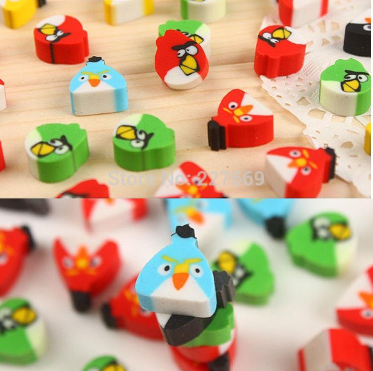 (100 piece)Pupil award children's birthday present school supplies Creative cute cartoon eraser(China (Mainland))