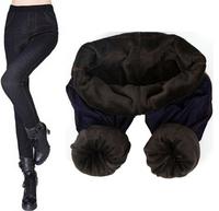 2014 winter leggings women jean winter thick plus size warm jean pants female free shipping