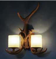 Antler Sconce, Rustic Wall Lamp, 2 Lights,  Guaranteed 100%+Free shipping!