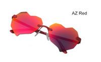 Reflective mirror  Heart Shaped Sunglasses WOMEN metal Reflective LENES Fashion sun GLASSES MEN sports Mirror oculos de sol 2014