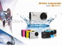 S30W Action sports camera Helmet Camera 30 meters under water camera 12 MP 1080P Full HD Sport Camera 150 Degree angle lens