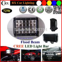 8 Inch 72W FLOOD  CREE LED bar Light Bar for Indicators Work Driving Led bar Offroad Boat Car Jeep Truck 4x4 SUV ATV Fog  9V-32V