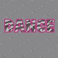 50pcs/Lot Free Shipping Bling Dance Rhinestone Iron On Transfers Wholesale Designs For T-shirts