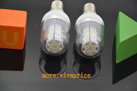 High Power 3W 3528 SMD E14 48 LED light Bulb Lamp Cool White /Warm White With Cover 200V-240V 2666 2679