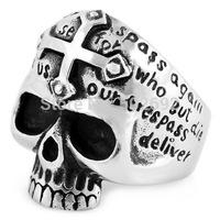 Cross titanium Men finger ring male skull ring ve305
