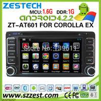 ZESTECH car dvd navigation for Toyota Corolla EX car dvd navigation system 3G audio dvd player