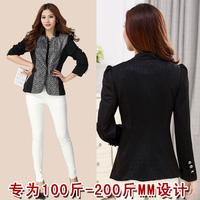 Fat Women Plus Size Blazer 2XL,3XL,4XL,5XL Long Sleeve Thin Slimming Coat Free Shipping w9384