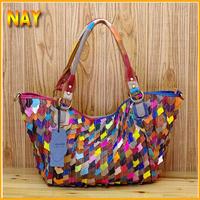 Famous Luxury Brand Fashion Women Genuine Leather Bags, Women Sheepskin Handbag Messenger Bags Tote Shoulder Bag K512