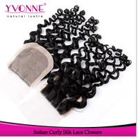 Brazilian Silk Base Closure,100% Italian Curly Virgin Human Hair Closure 4x4,10-18 Inches Aliexpress Yvonne Hair Products