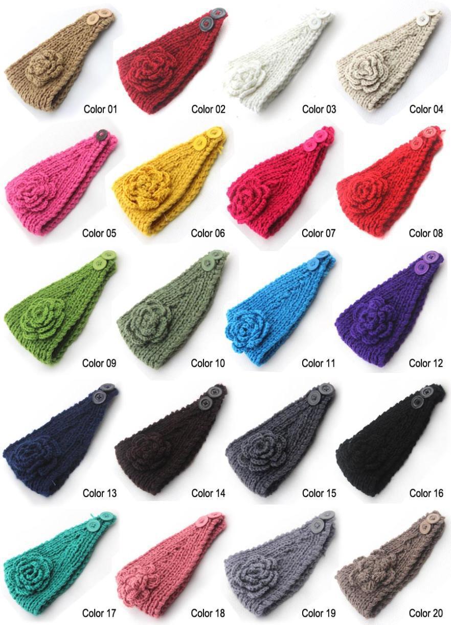 2014 New 10pcs/lot Classical Flower Women's Knitted Headwrap Knitting wool crochet headband ear warmers for Girls Teens Women(China (Mainland))