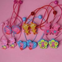 1pc Peppa George pig kids baby girls hairband  Headband hairgrips Clamp accessories hairpin headwear