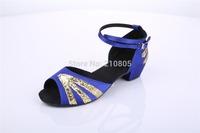 Fashion Latin/Modern/Tango Ballroom Women's and Kid's Sandals Flats Heel Satin Dance Shoes  Free shipping