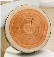 Imitated log cushion creative round wood shaped waist pad creative household cushions birthday gift for lover Free Shipping