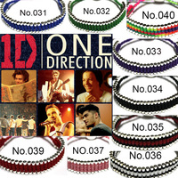 9 Colors Copper 925 Silver Plated Bracelet & Bangle One Direction Friendship Bracelets For Men and Women
