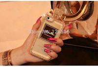 Hot sale Luxury Brand Logo Perfume Bottle Case For iPhone 5S Handbag TPU mobile phone cover chain SJK1-005