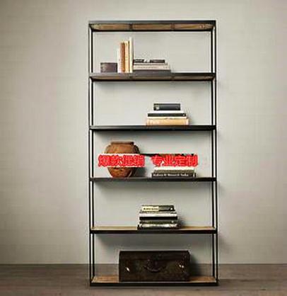 American iron tag re biblioth que partition de style loft for Meuble porte bagage