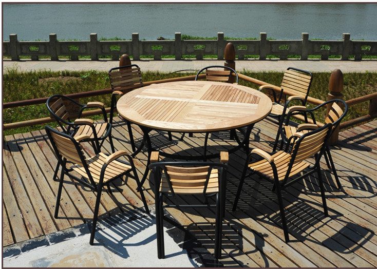 Stylish outdoor furniture wood wrought iron balcony patio for Balcony restaurant group