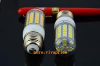 E27 220V 10W 59 LEDs SMD 5050 Cover LED Spotlight Light Lamp Corn Bulb White / Warm White Lighting