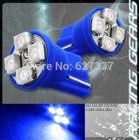 Blue Car Auto LED 194 W5W 4SMD T10 4 led smd 3528 Car Side Indicator Light/Parking Light Turn Lamps/Wedge LED Light Bulb Lamp
