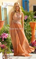 Bachelor Bachelorette Final Rose Emmys 2014 Red Carpet Designer Celebrity Dresses A-Line Chiffon Crystal Bling  Evening Dresses