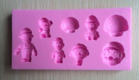Super Marie fondant cake molds soap chocolate mould for the kitchen baking C337