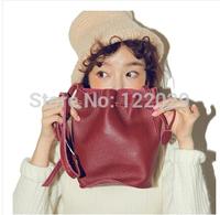 Free shipping women's Genuine leather handbags small litch pattern messenger bag Pump belt Bucket shoulder bags
