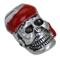 New 2014 Brand New Metal Gothic Pirate Skull Charm Pendant - Silver Tone