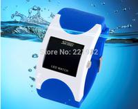 5pcs/lot SKMEI LED Digital Women Men Outdoor Casual Watches Waterproof Rubber Band Wristwatches 2014 New Fashion Free Shipping