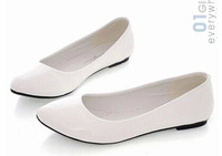 women shoes candy color PU woman flats new 2014 ballet princess single shoes for casual Drop shipping