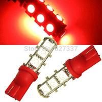 100Pcs/Lot Red Car led light W5W 194 T10 13smd 13 SMD 13 LED 5050 light 13SMD auto light reserve light Free Shipping