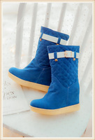 FREE SHIPPING US size 4-7.5 2014 new arrival  autumn winter black beige blue  long boots snow boots autumn boots shoes woman