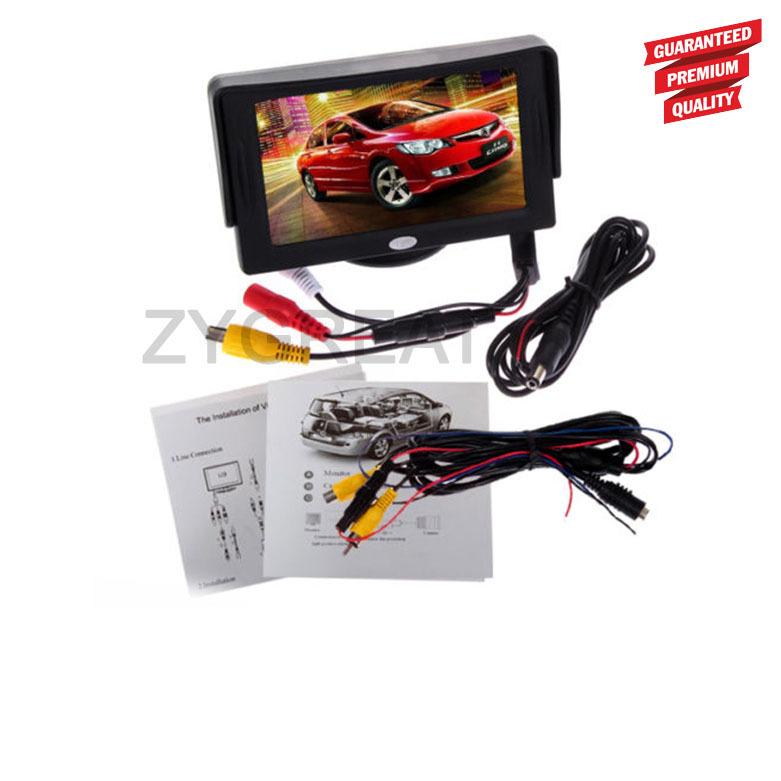 freeshipping!!!car monitor 4.3 inch Rotatable Backlight TFT LCD 320 * 240 CAR REAR VIEW MONITOR Black(China (Mainland))