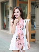 Fashion New 2014 Korean Beautiful All-match Leopard Print Chiffon Autumn Winter Scarf Women Free Shipping  JZ082402