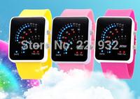 Wholesale 8pcs/lot SKMEI led binary watch men and women fashion watch electronic watches waterproof rubber strap watch