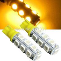Freeshipping Yellow car nidication light T10 13SMD 5050 Automotive Led Auto Bulb,Led Auto Lamp,Led Car Lighting 100pcs/lot