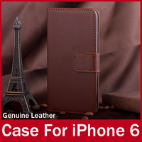 Genuine Leather Cover For iPhone 6 New Case For Apple iPhone6 With Credit Card Holder Book Styles High Quality