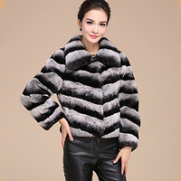 2014 Hot 100% Real Rex Rabbit Fur Coat Women Natural Rex Rabbit Fur Overcoat  Plus Size For Russia Warm  EMS Free Shipping